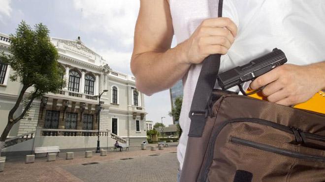 35% de universitarios comprarían un arma para defenderse