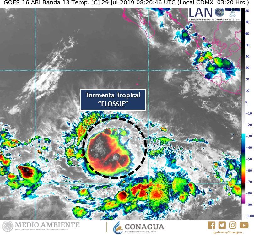 Se forma la tormenta tropical 'Flossie' en el Pacífico, no tocará tierra