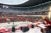 Cierra Antorcha eventos de 45 Aniversario en el Azteca y anuncia creación de Partido Político