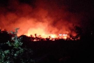 Se registra incendio en el Estero El Salado