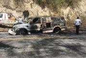 Se incendian camión de valores con 2 millones de pesos