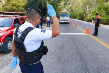 Instalan filtros sanitarios en los tres accesos a Puerto Vallarta