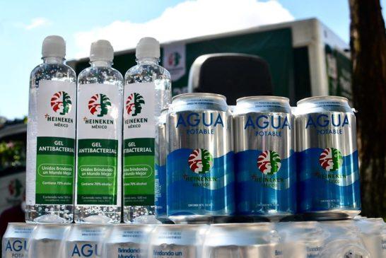 Heineken aporta al Gobierno del Estado insumos para prevenir contagios del COVID-19