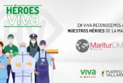 Puerto Vallarta participa en la campaña Héroes de Viva Aerobus