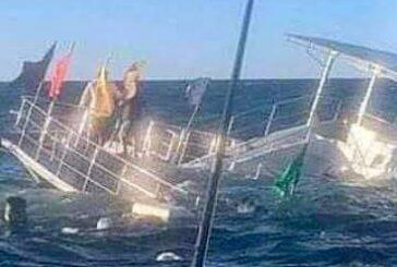 Ola impactó al catamarán