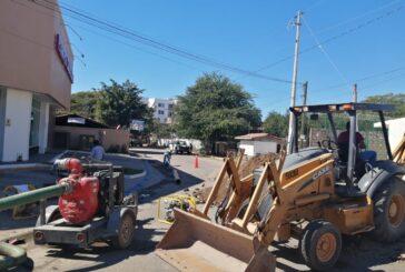 Repara SEAPAL tubería colapsada en ingreso a El Pitillal