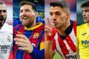 SUÁREZ SE ACERCÓ A MESSI: Así está la tabla de máximos goleadores de la Liga de España 2020/21