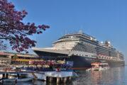 Arriba el crucero Nieuw Amsterdam y el buque USS Freedom a Puerto Vallarta