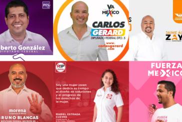 Estos son los candidatos a la Diputación Federal, ¿a quién eliges?