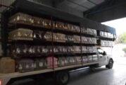 Asaltan camión y roban 86 ataúdes en carretera de Silao