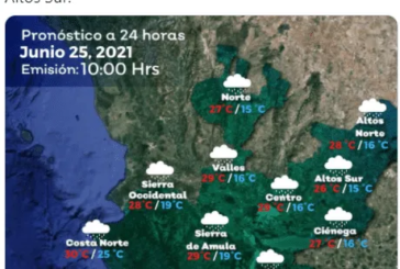 """Prevén que """"Enrique"""" traiga lluvias moderadas a fuertes en algunas zonas de Jalisco"""
