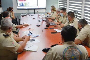 Sesiona Comité Estatal de Emergencias, previo al paso de la Tormenta Tropical 'DOLORES'