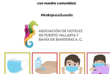 Exhorta asociación de hoteles a no bajar la guardia respecto a los protocolos sanitarios