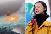"""""""Este es el mundo que nos dejan"""": el contundente mensaje de Greta Thunberg tras incendio de Pemex en el Golfo de México"""