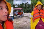 """Alessandra Rosaldo y su hermana, evacuadas de emergencia por el huracán """"Nora"""""""