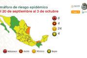Ya hay 4 estados en verde y 24 en amarillo: ve color de tu entidad en semáforo COVID