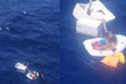 Rescatan a dos niños náufragos en altamar, aferrados a su madre ya fallecida