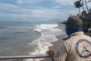 Sólo oleaje alto deja Pamela en Vallarta